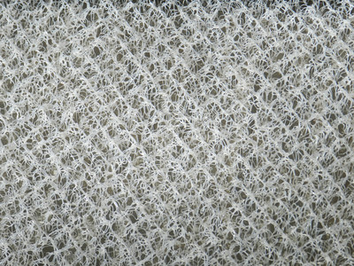 Close up image of the woven polymer material.